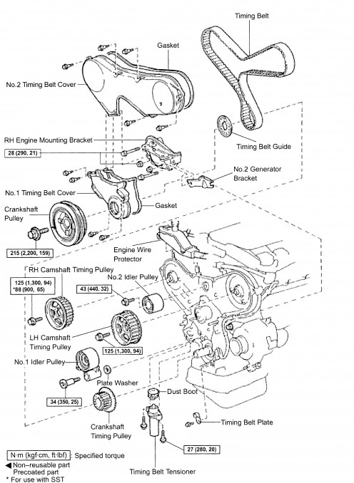 Timing Belt Diagram  U2013 Timing Belt Diagram Maintenance Replacement